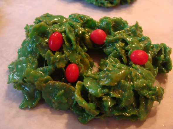 Christmas Cornflake Wreaths A Recipe A Day