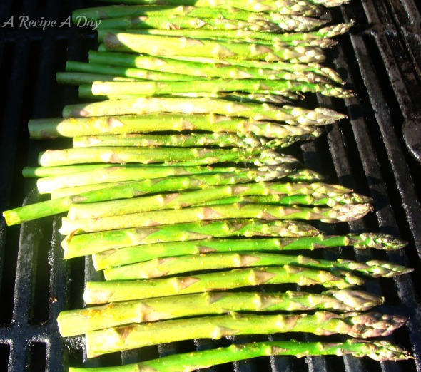 Grilled Asparagus added