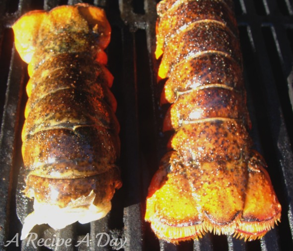 Grilled lobster tails added