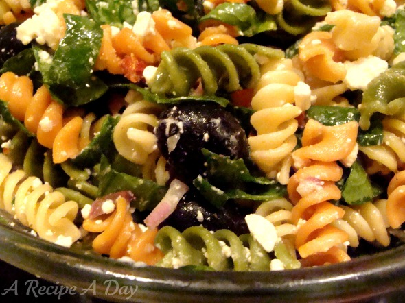 Spinach Pasta Salad Added
