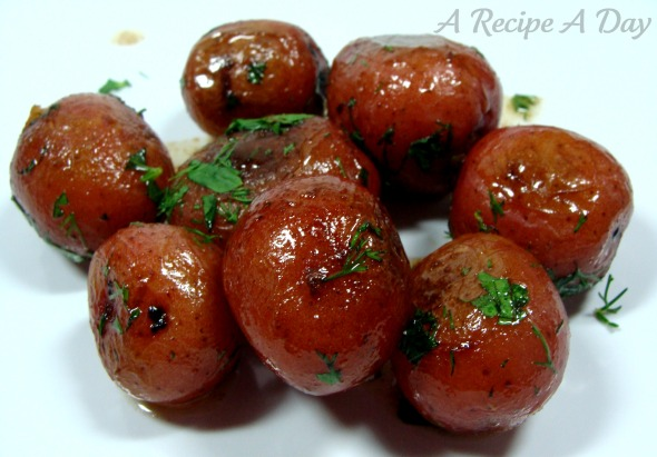 White wine potatoes added
