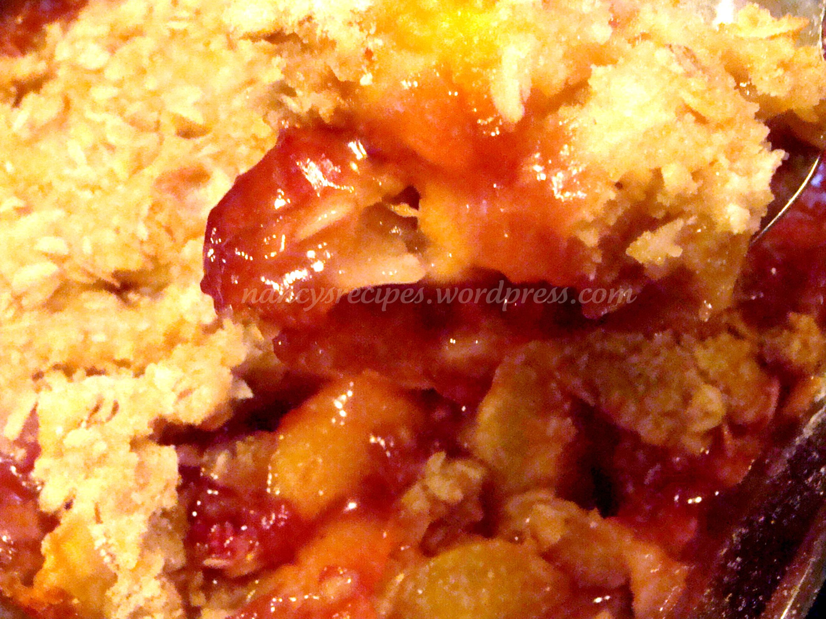 Peach Raspberry Crisp ~ Barefoot Contessa | A Recipe A Day