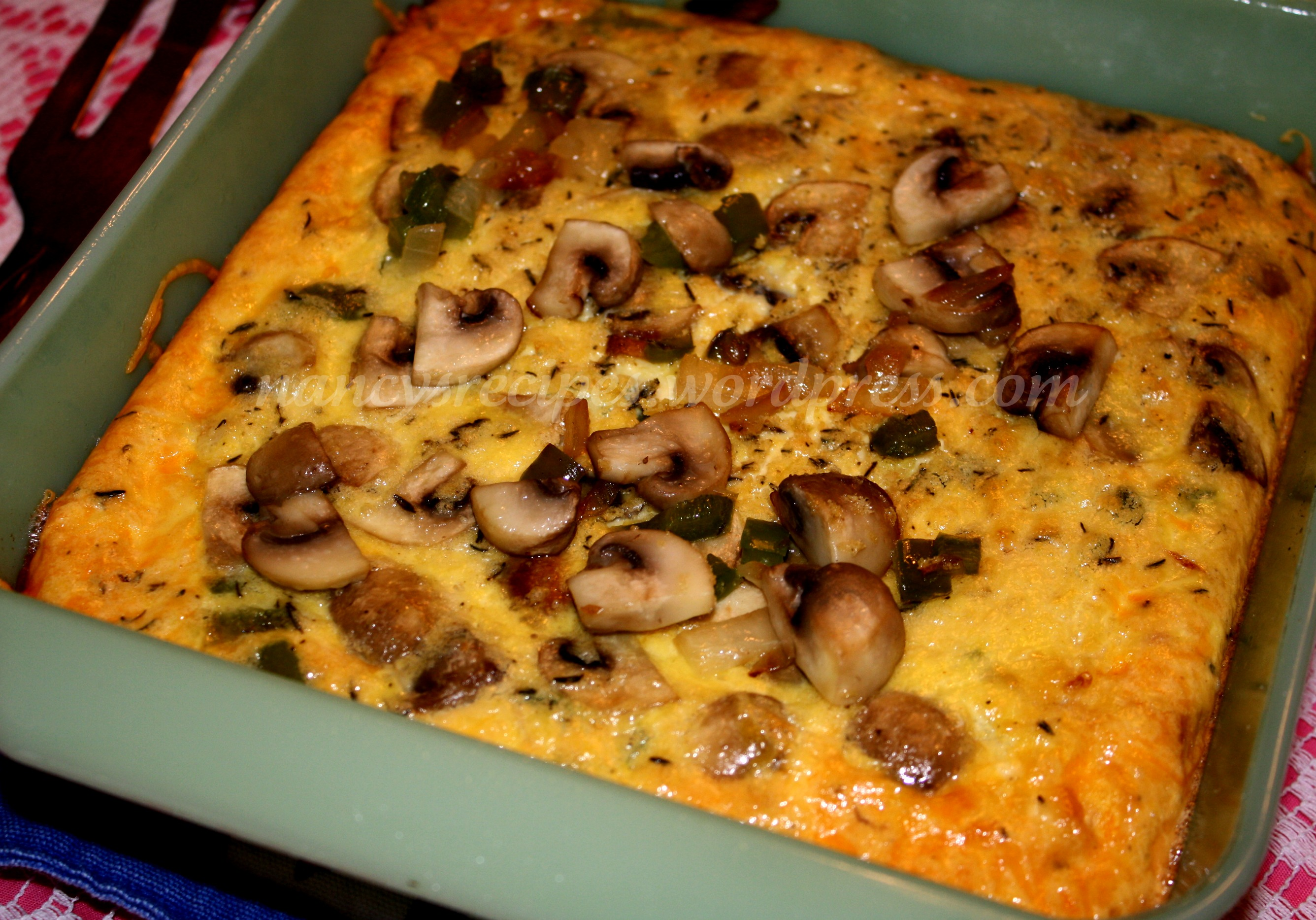 cheddar frittata real simple garlic crouton mushroom cheddar frittata ...