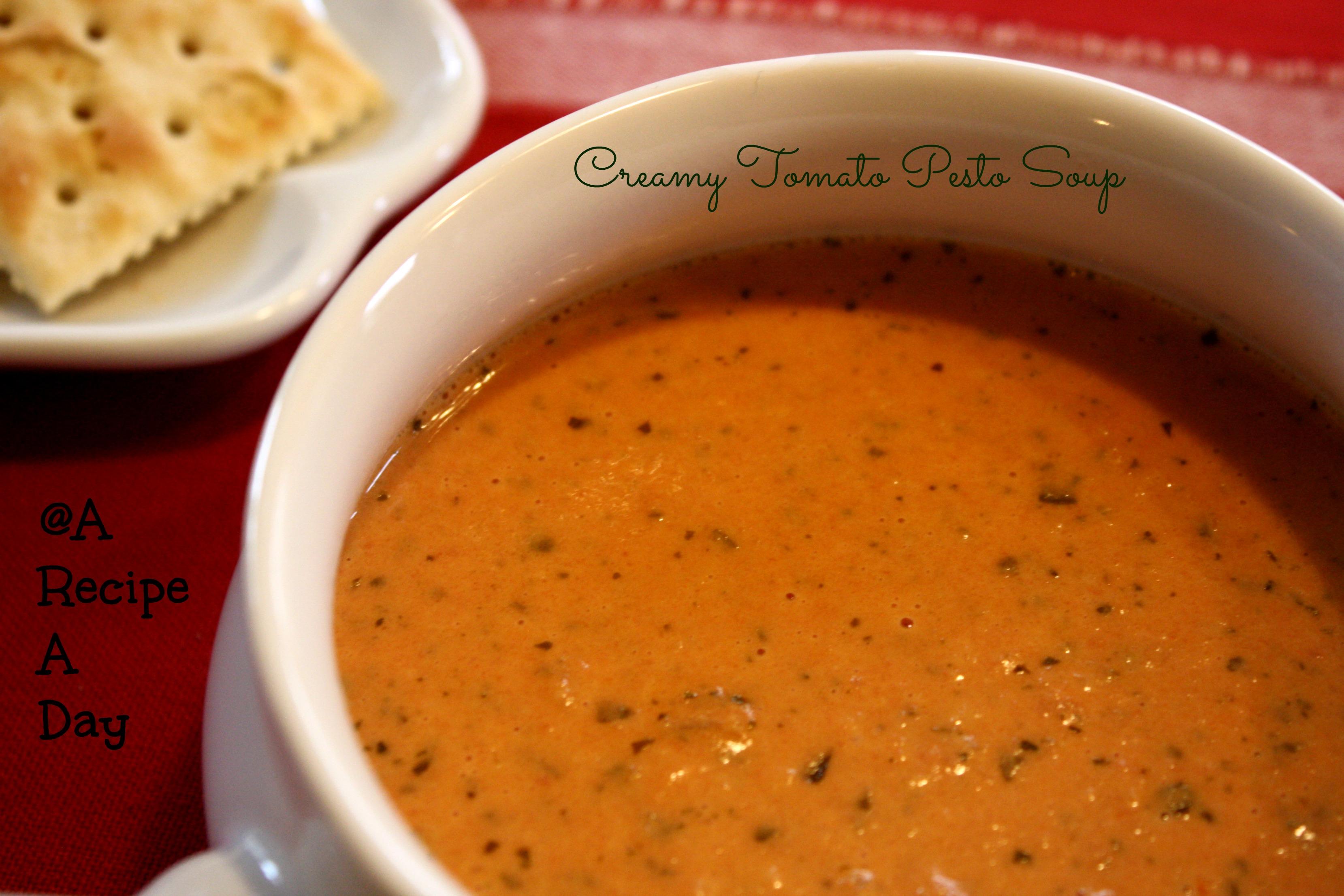 recipe: cream of tomato soup with pesto [10]..