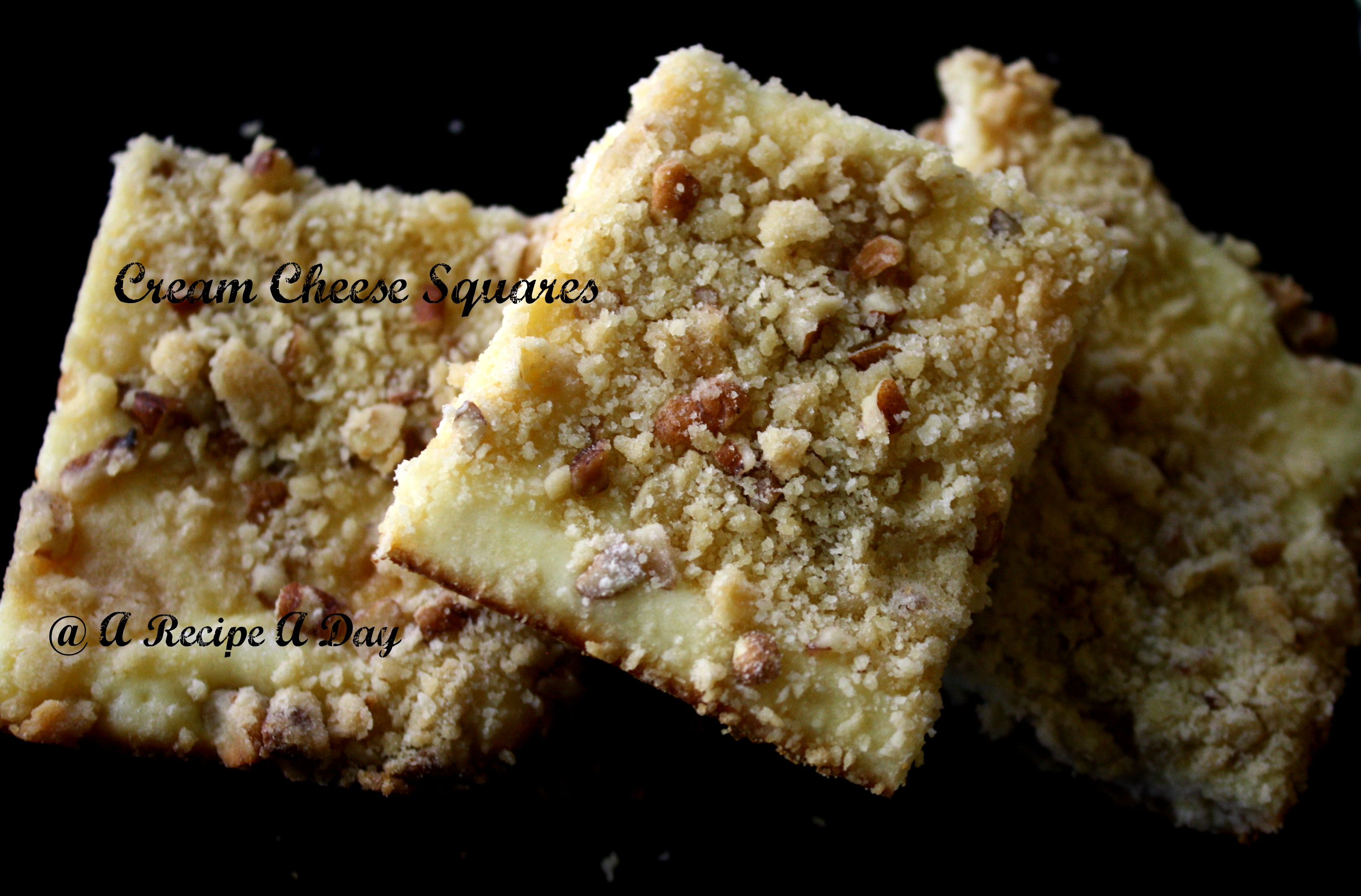 Vintage Recipes Series ~ Cream Cheese Squares
