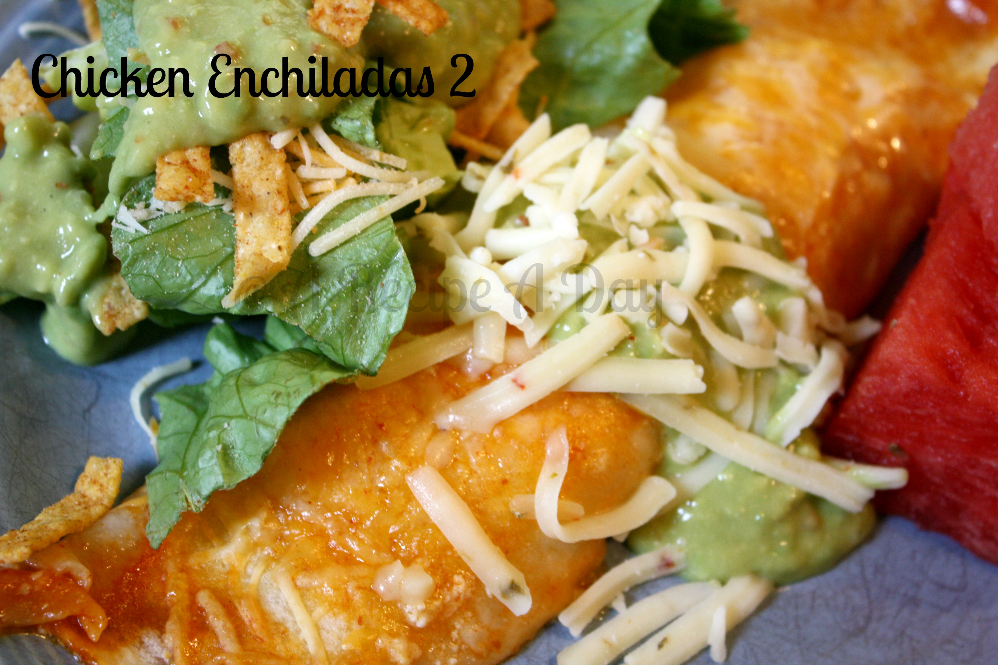 Cinco De Mayo Chicken Enchiladas #2 | A Recipe A Day