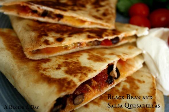 Black Bean and Salsa Quesadillas