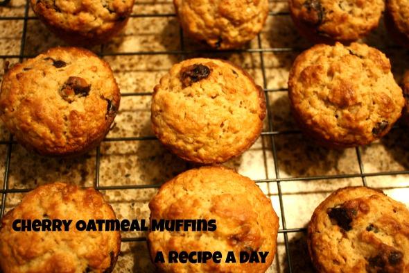 Cherry Oatmeal Muffins 2