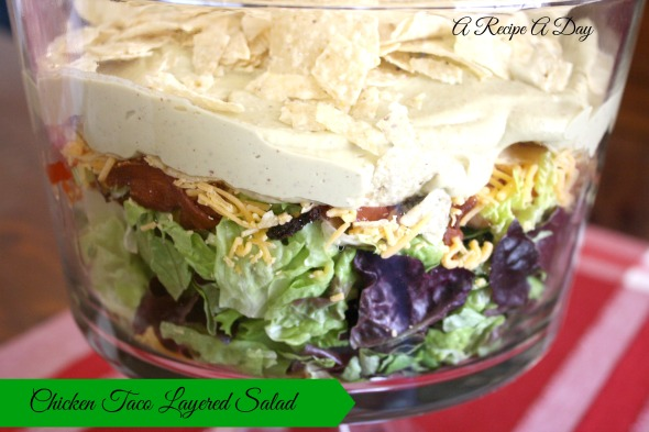 Chicken Taco Layered Salad