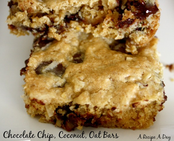 Chocolate Chip, Coconut, Oat Bars 2
