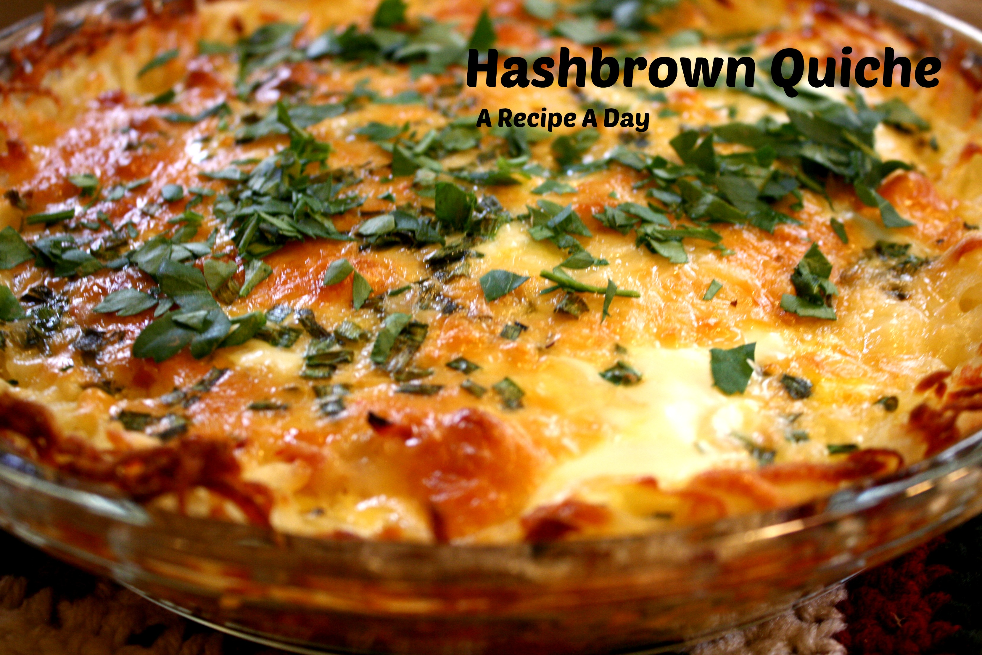 Hash Brown Quiche A Recipe A Day