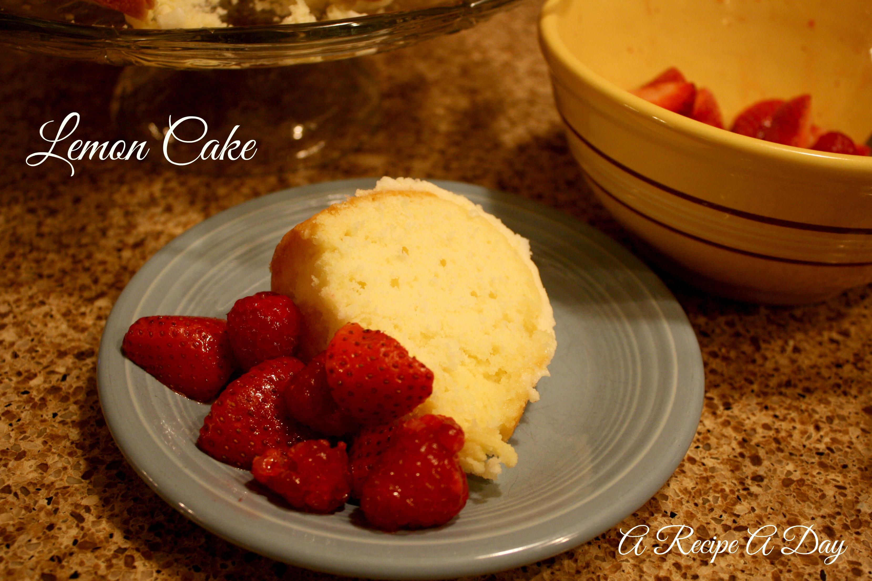 Cake Recipes Using Lemon Extract: A Recipe A Day