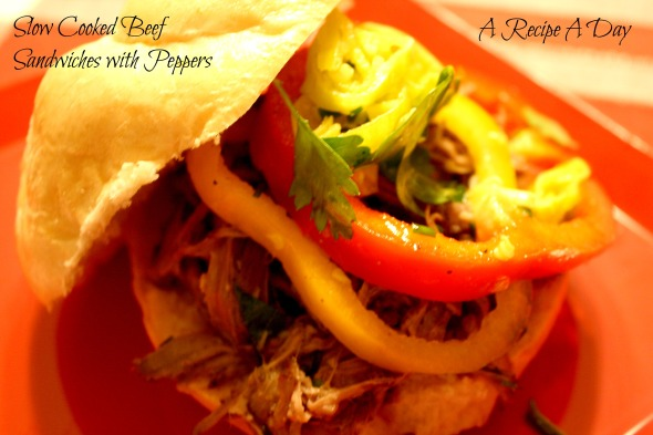 Slow Cooked Beef Sandwiches with Peppers 2