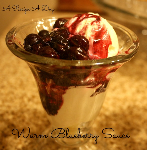 Warm Blueberry Sauce