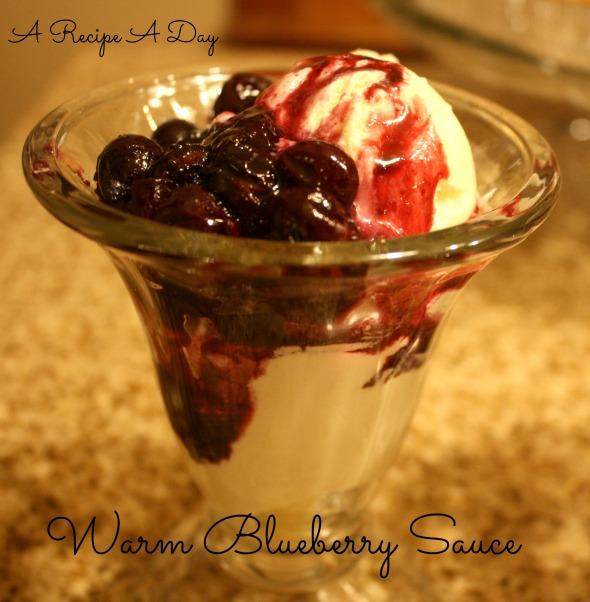 Warm Blueberry Sauce