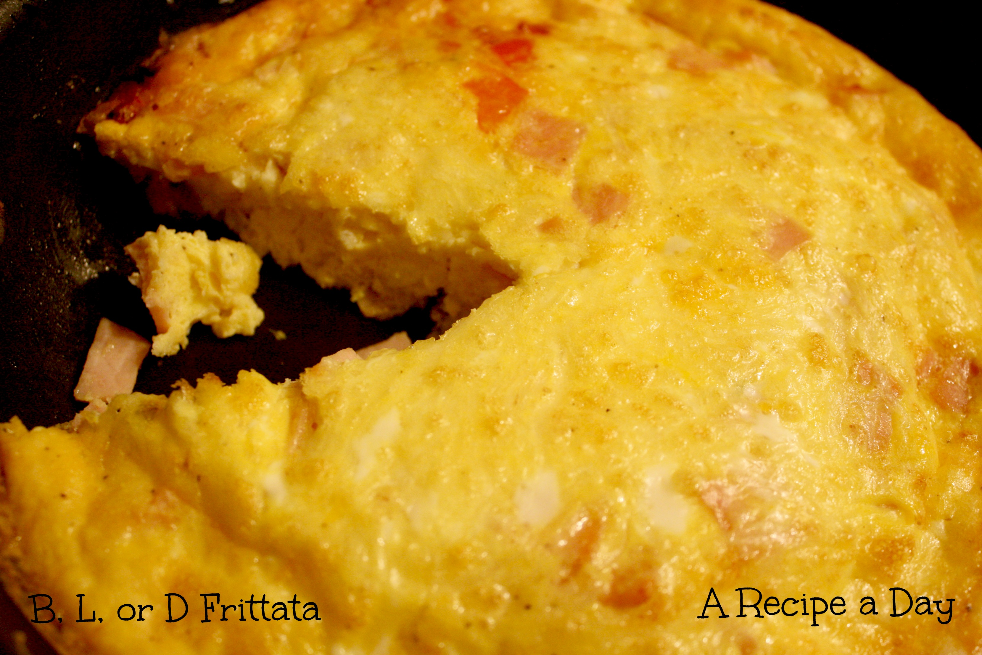 or D Frittata | A Recipe A Day