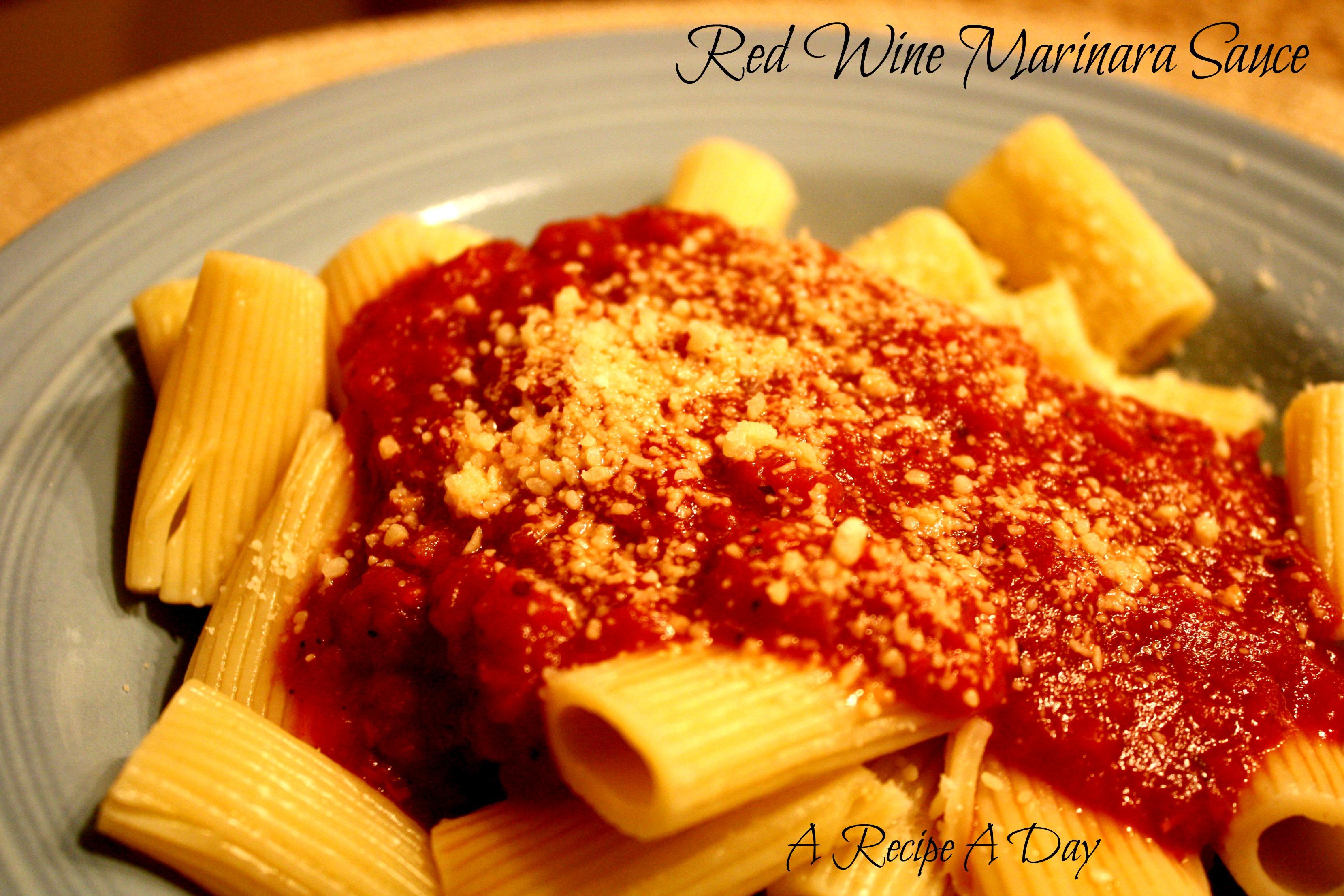 Red Wine Marinara Sauce