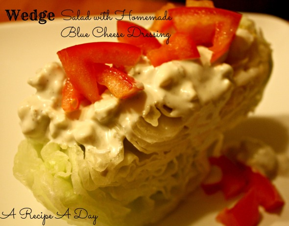 Wedge Salad with Blue Cheese Dressing