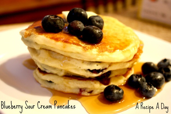 Blueberry Sour Cream Pancakes 2