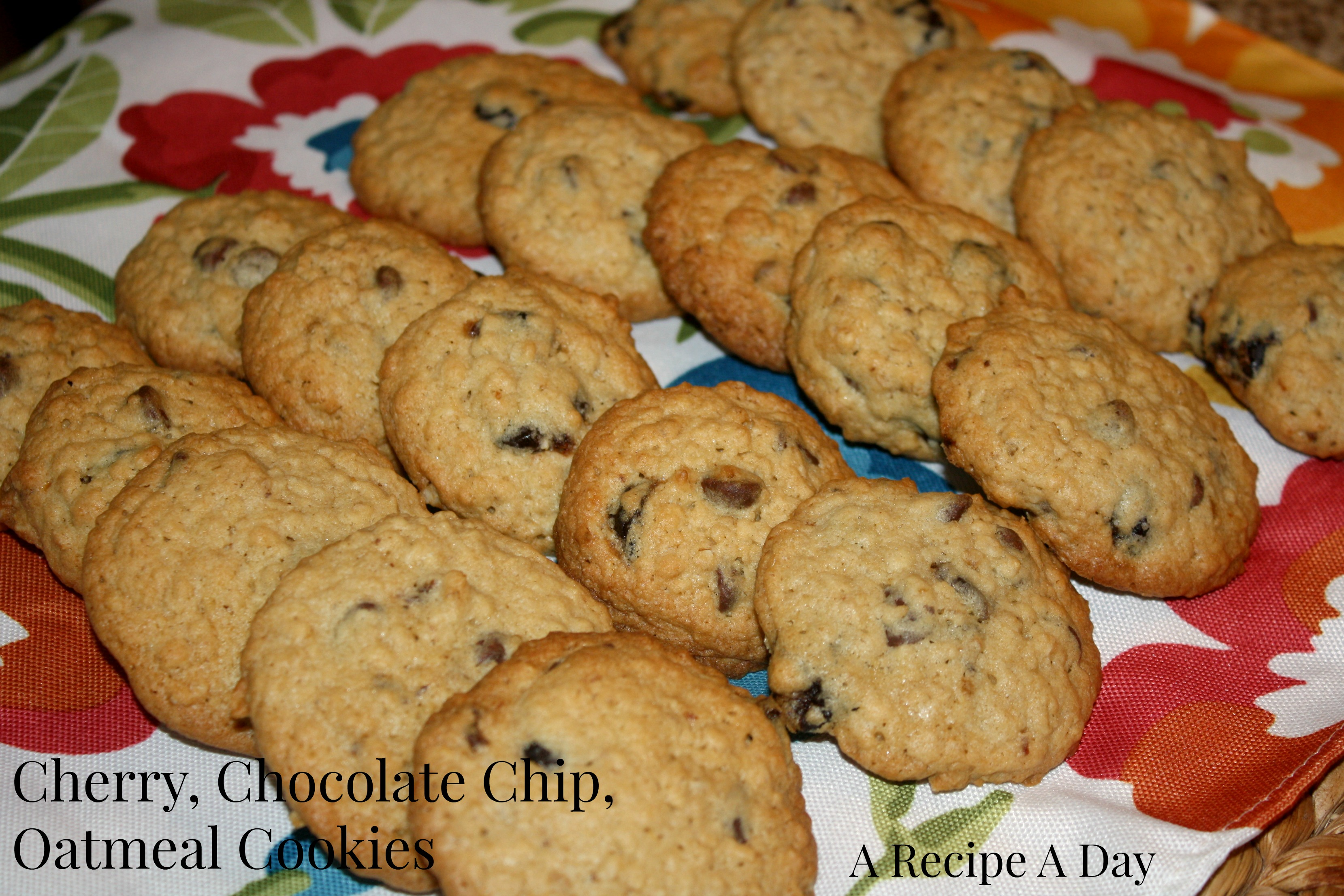 Cherry, Chocolate Chip, Oatmeal Cookies